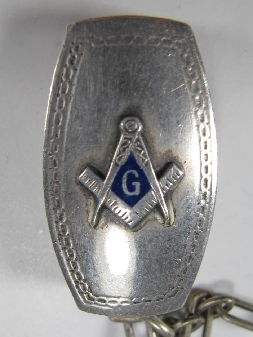Lot of 4 Masonic sterling & metal jewels - 4