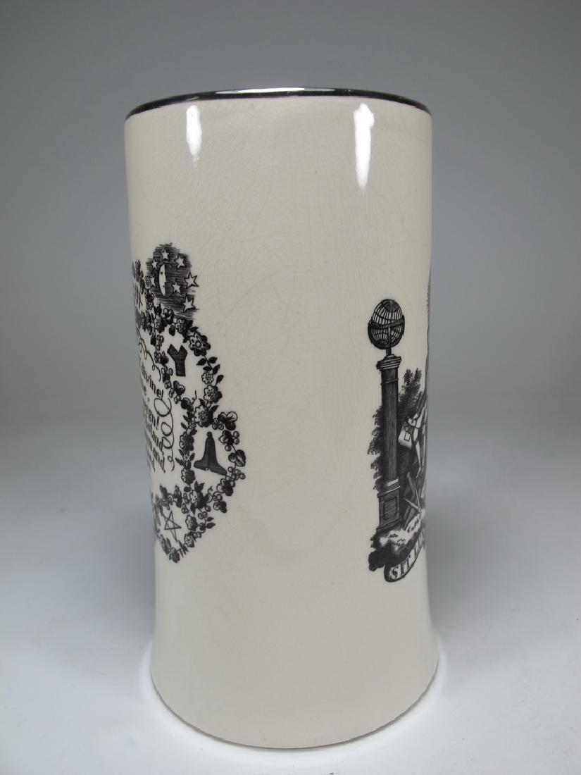 Gray's Pottery Masonic England tankard - 2