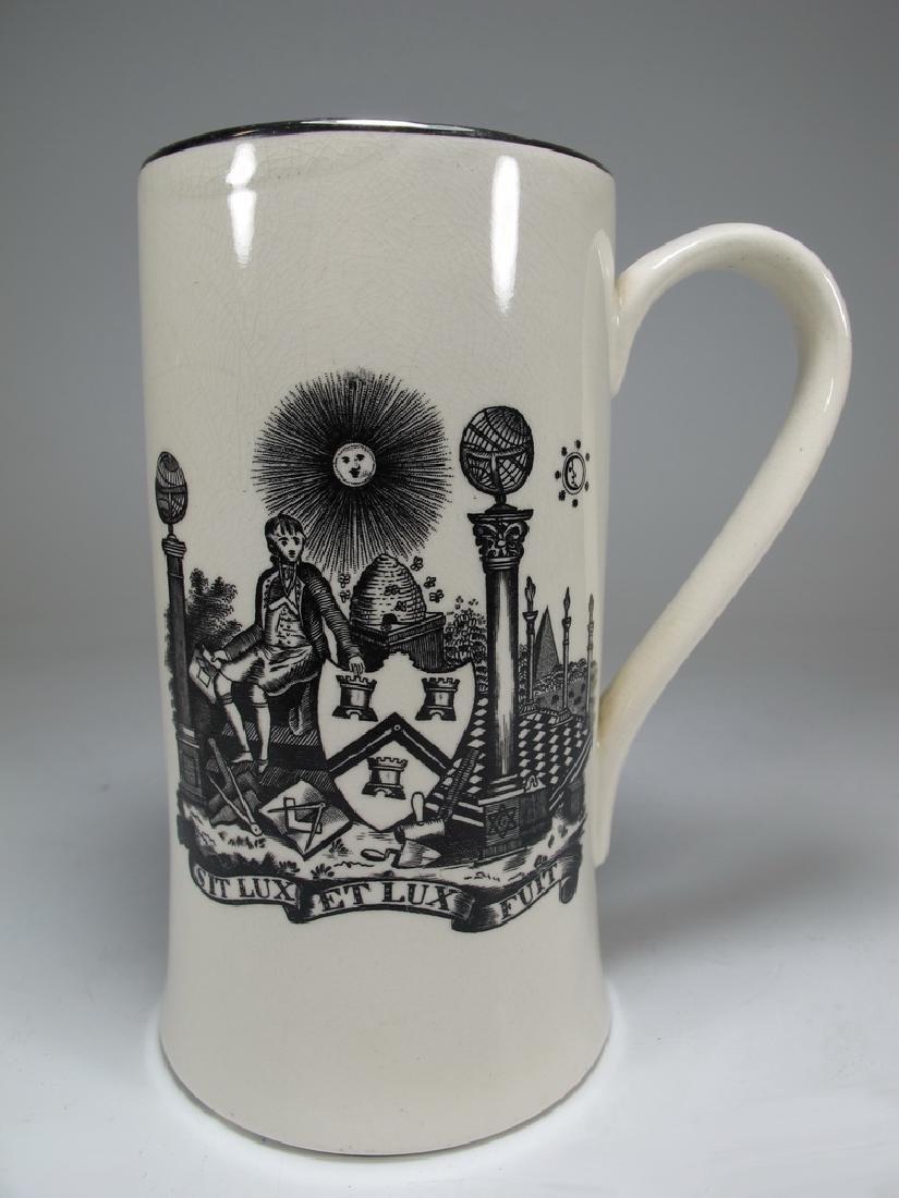 Gray's Pottery Masonic England tankard - 3