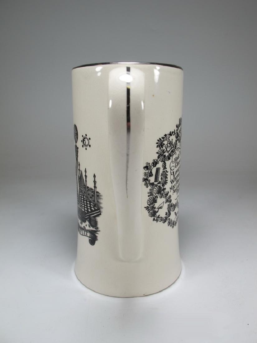 Gray's Pottery Masonic England tankard - 4