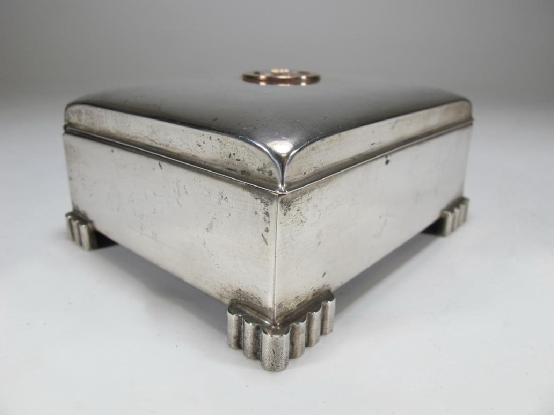 Sterling by Poole Masonic cigarette hinged lid box - 3