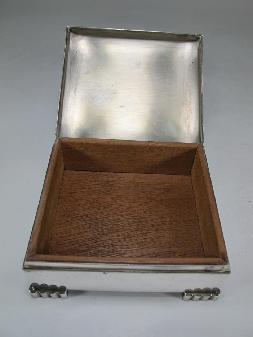 Sterling by Poole Masonic cigarette hinged lid box - 4