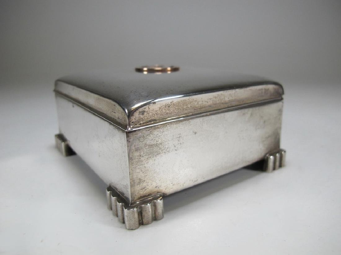 Sterling by Poole Masonic cigarette hinged lid box - 5