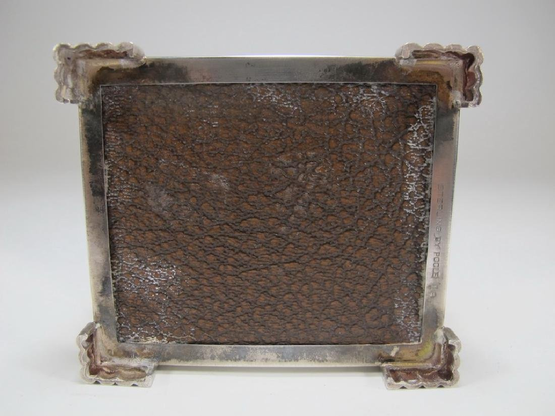 Sterling by Poole Masonic cigarette hinged lid box - 6
