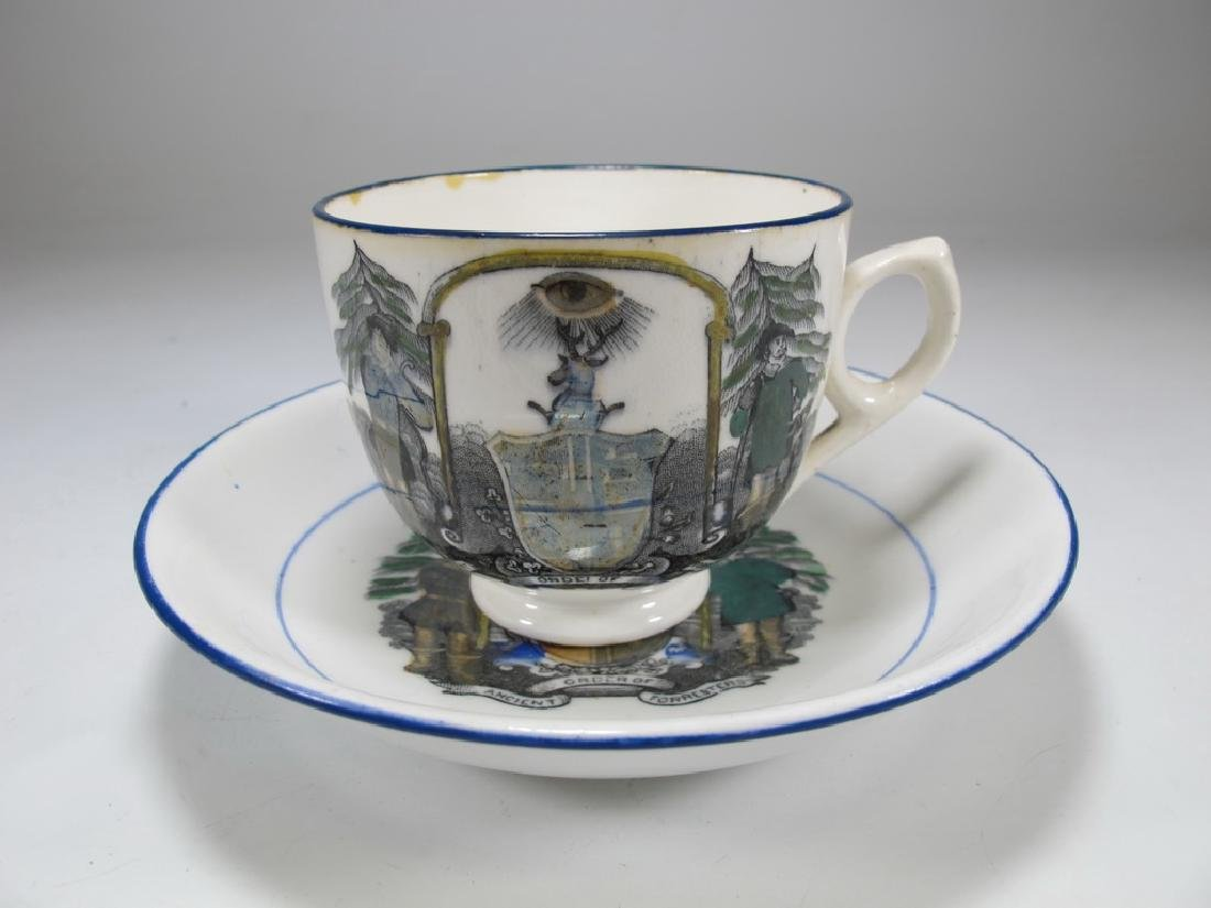 Vintage Masonic Ancient set of cup and saucer