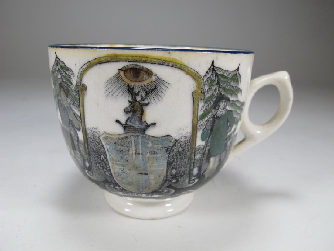 Vintage Masonic Ancient set of cup and saucer - 4