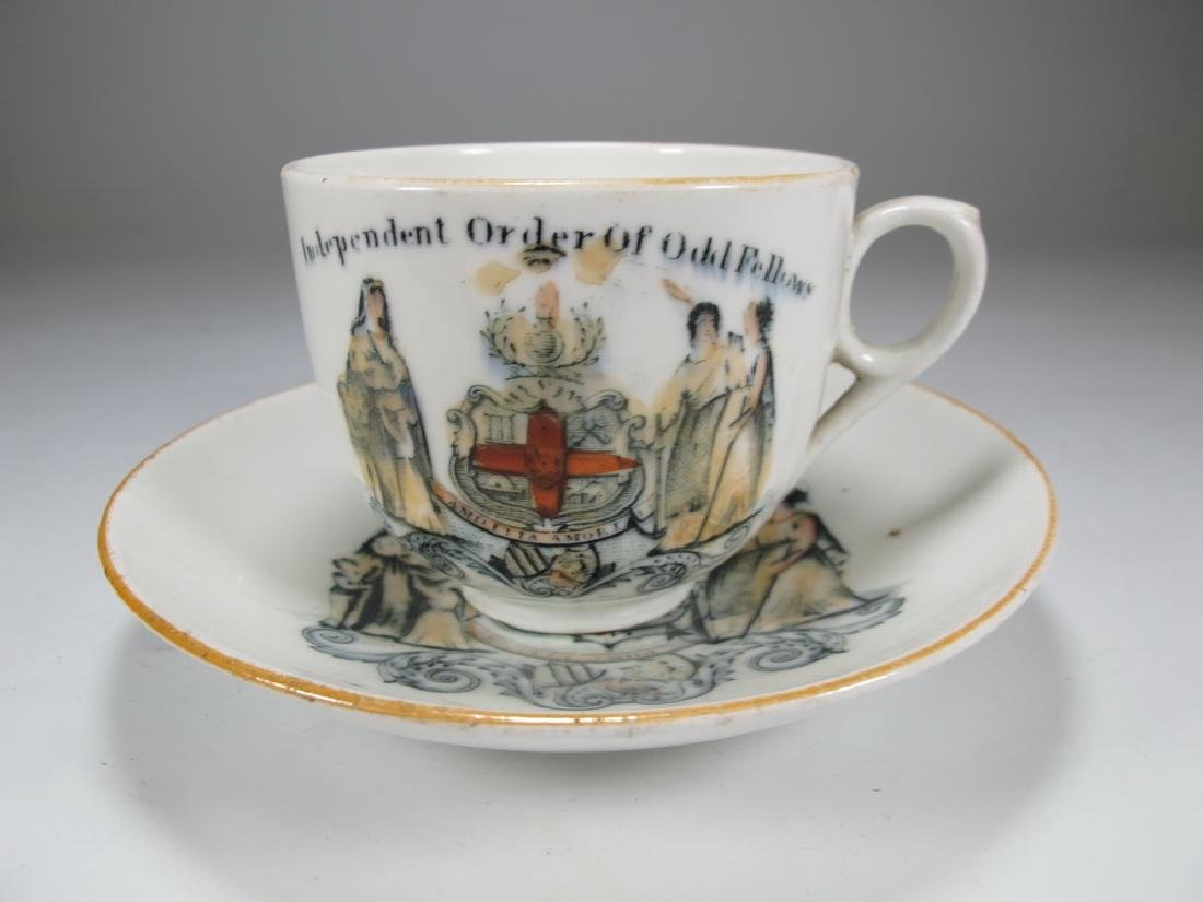 Vintage Masonic set of cup and saucer
