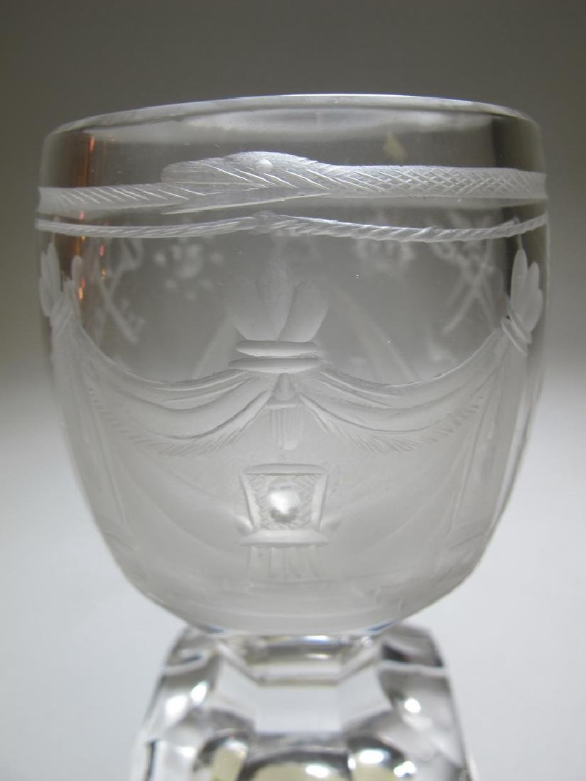 Lot of two Masonic firing glass goblets - 2
