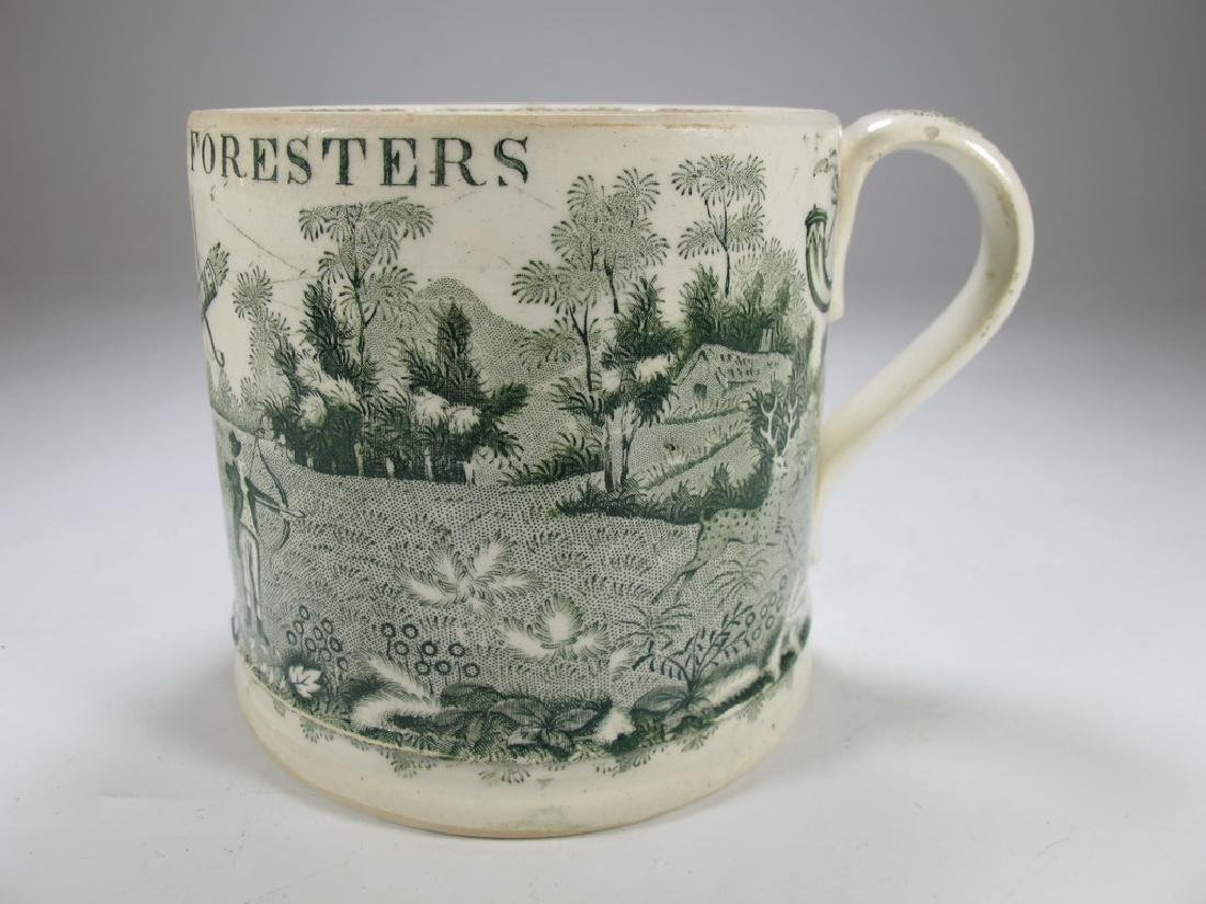 Antique English Masonic Royal Foresters mug
