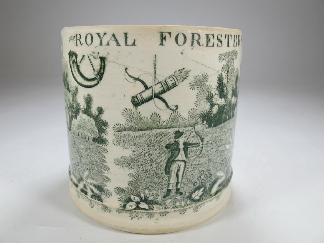 Antique English Masonic Royal Foresters mug - 3
