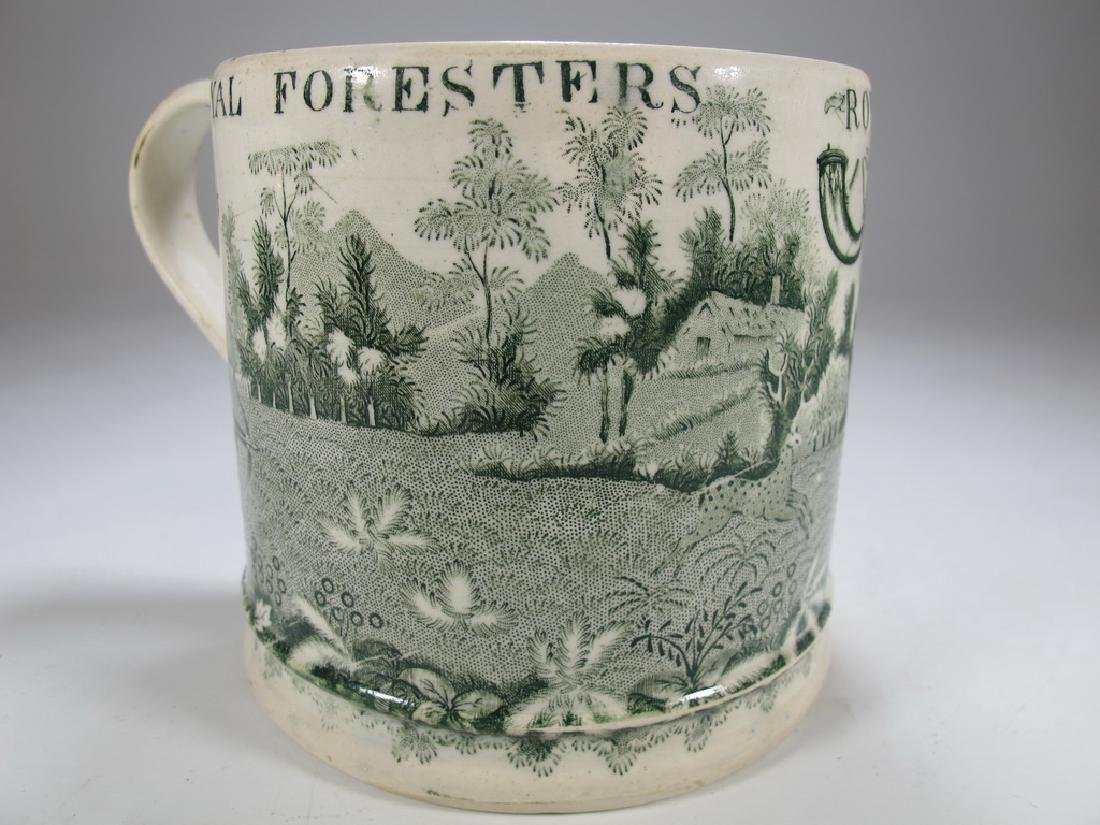 Antique English Masonic Royal Foresters mug - 4