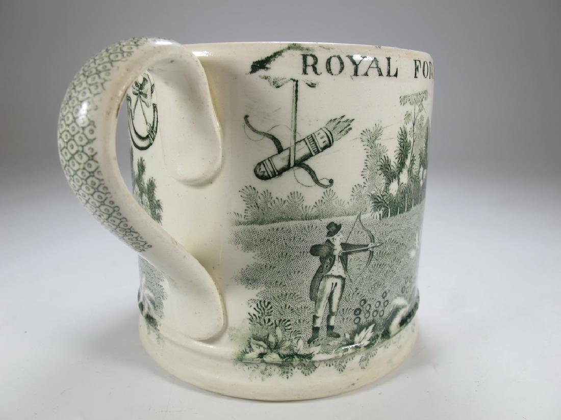 Antique English Masonic Royal Foresters mug - 5
