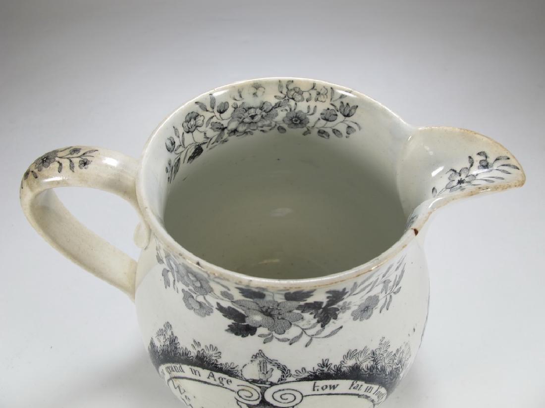 Antique English Masonic earthenware small jug - 2