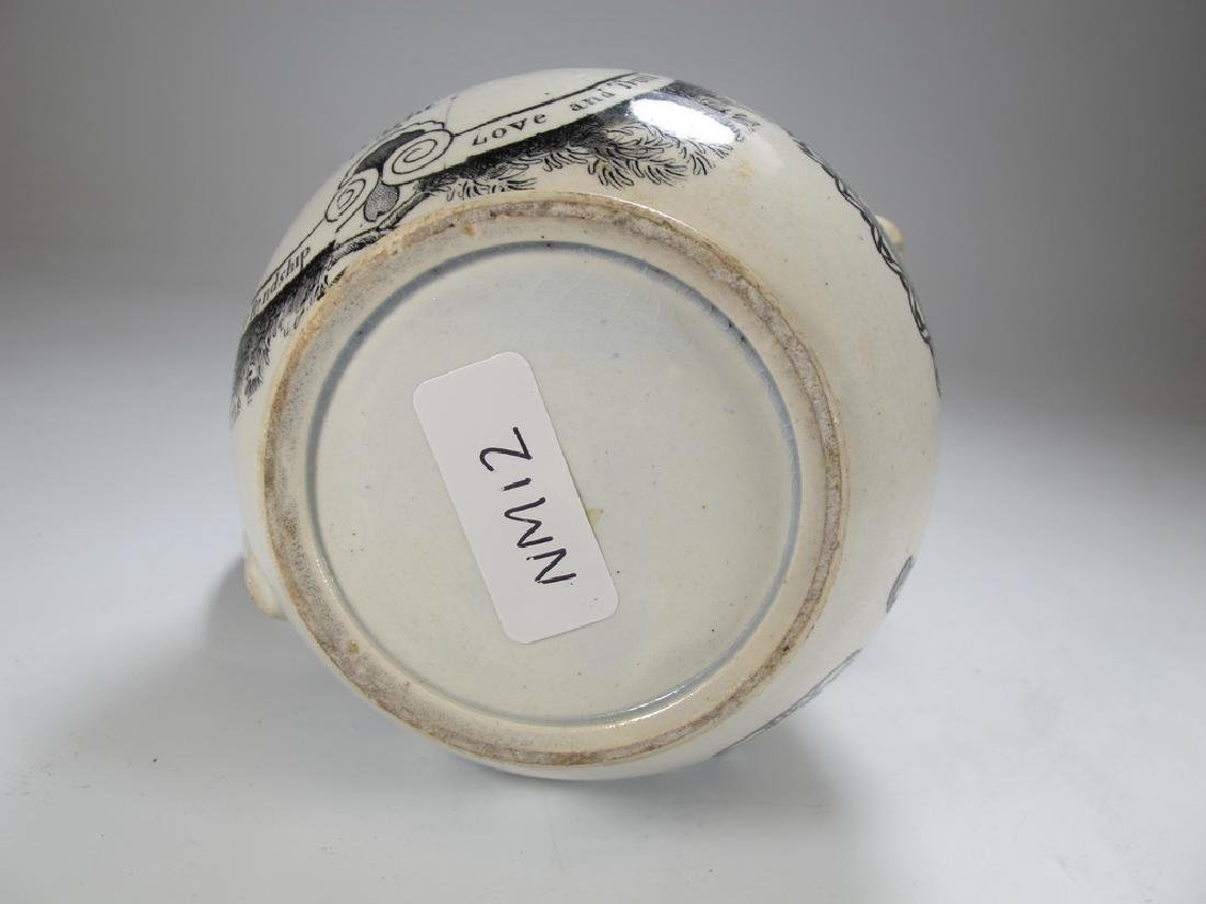 Antique English Masonic earthenware small jug - 6
