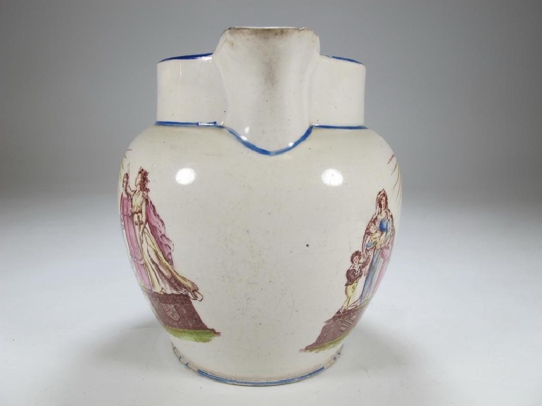 Antique English Masonic small jug - 2