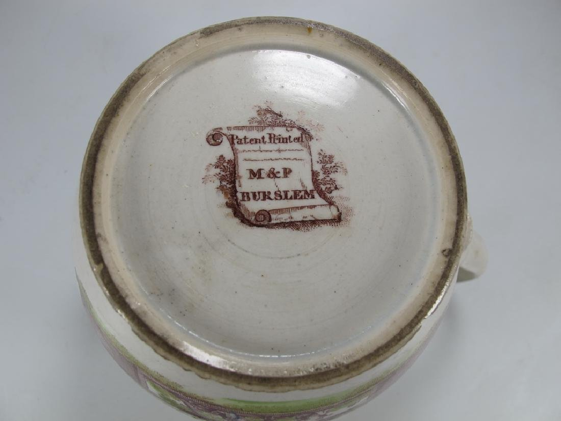 Antique English Masonic small jug - 7