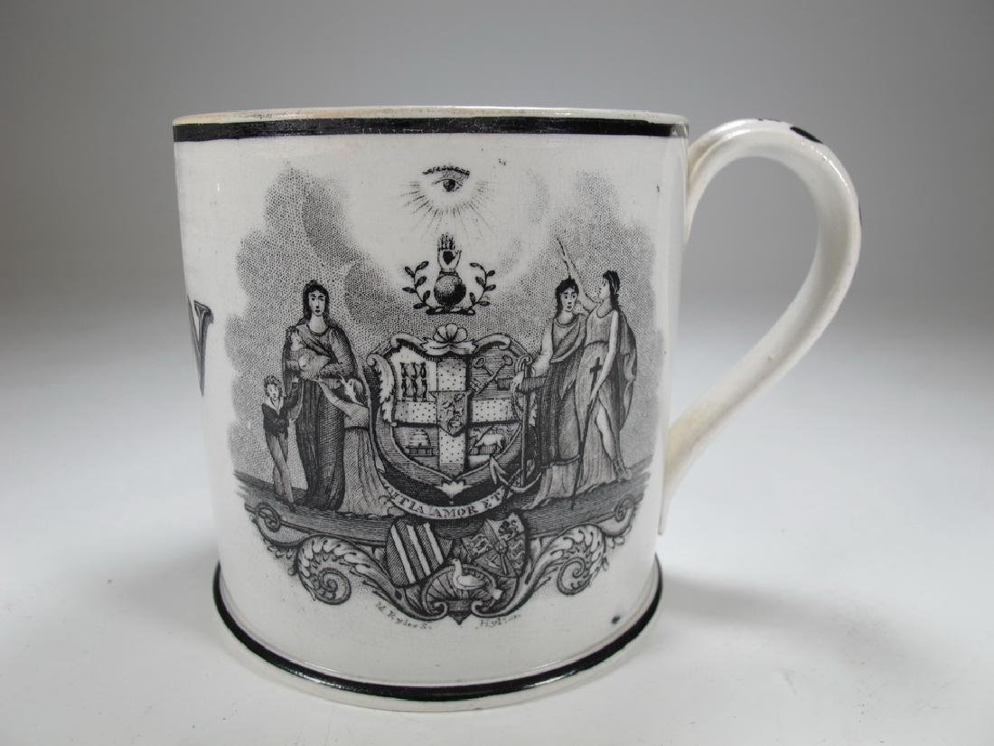 Old English Masonic mug - 3