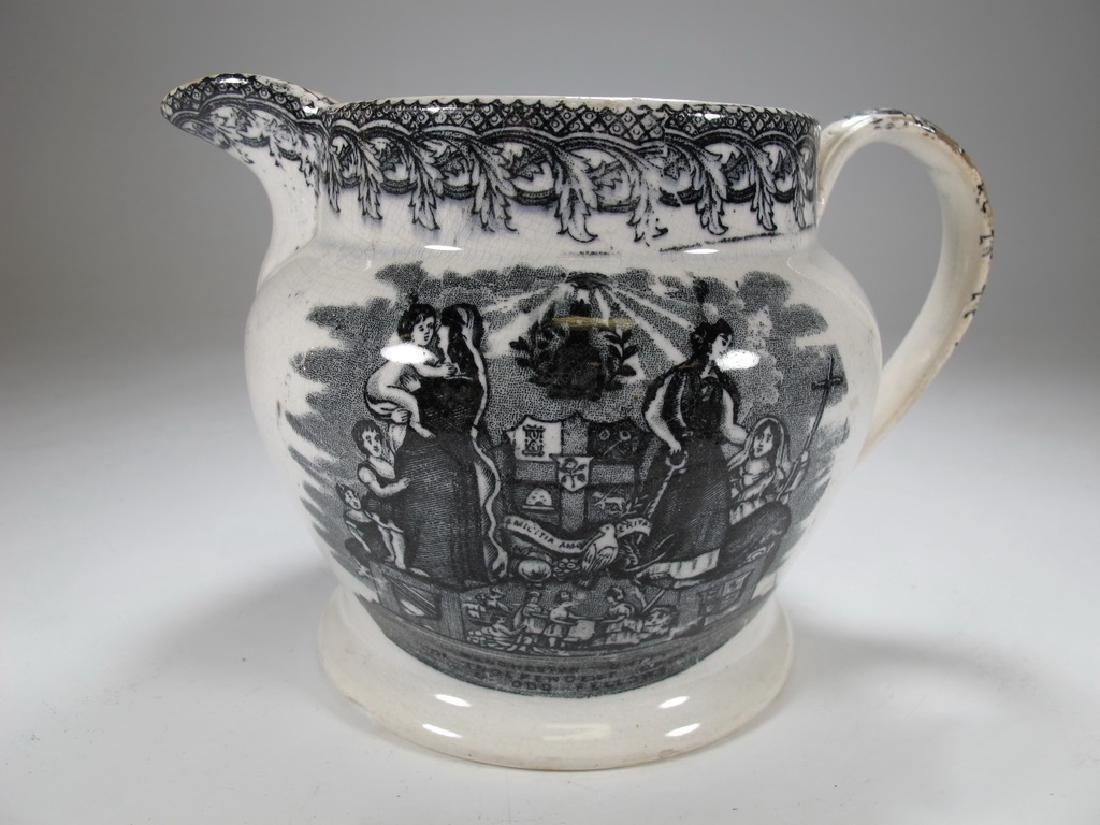 Antique English Masonic jug - 3