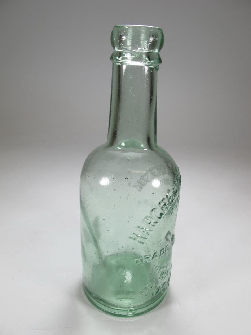 Antique English Masonic green glass bottle - 6