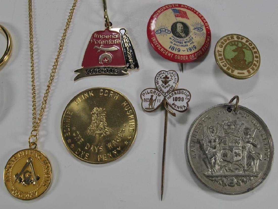 Lot of assorted Masonic badges, coins, pins & charms - 3