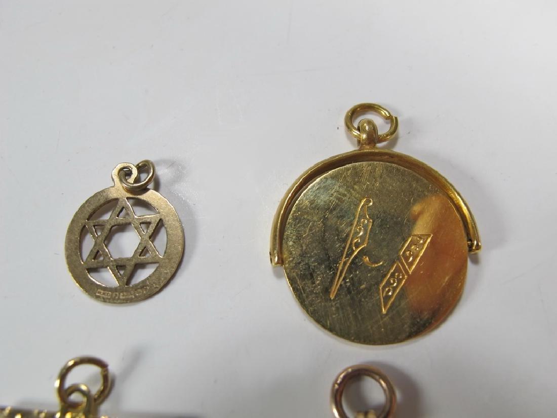 Lot of 4 9K Gold Masonic jewel - 2