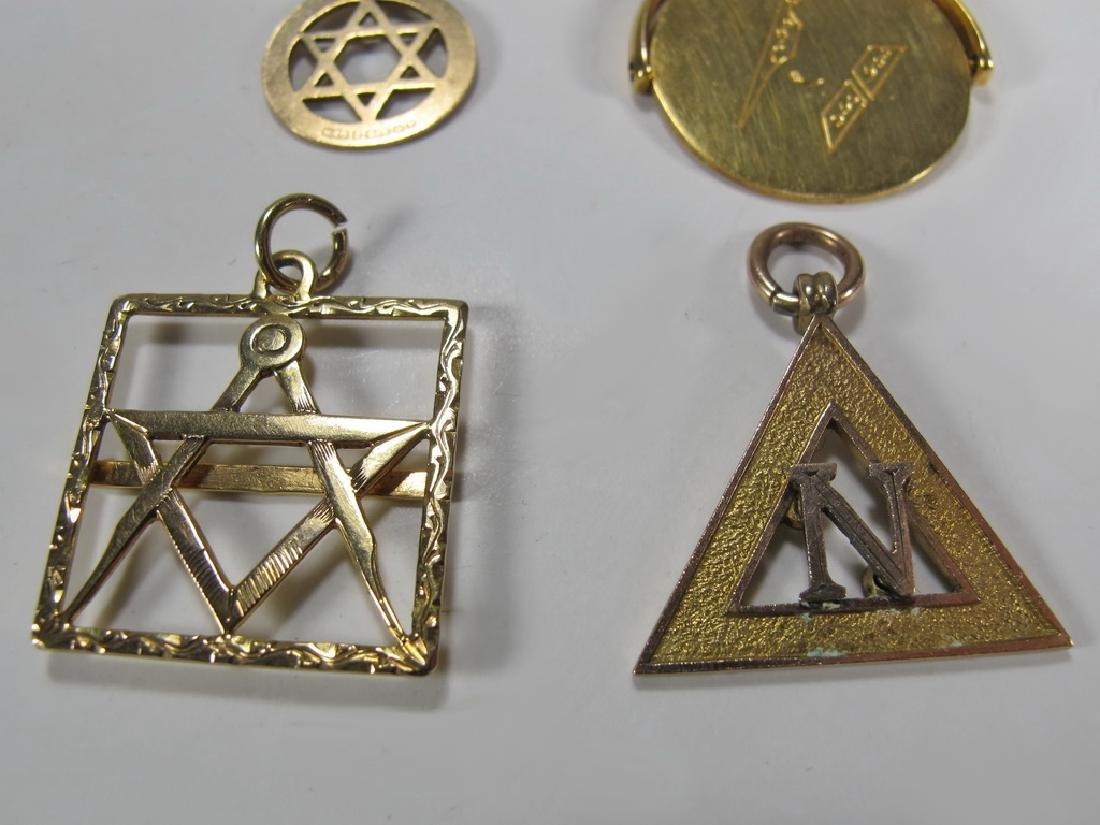 Lot of 4 9K Gold Masonic jewel - 3