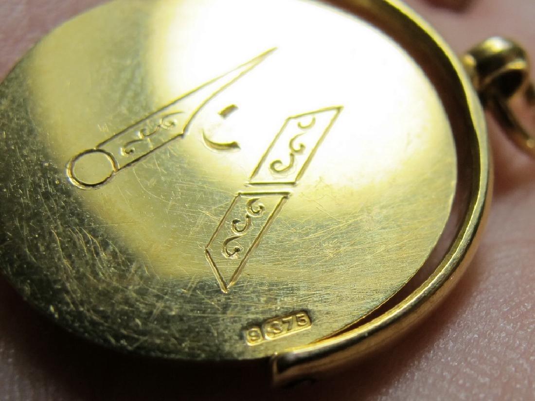 Lot of 4 9K Gold Masonic jewel - 5