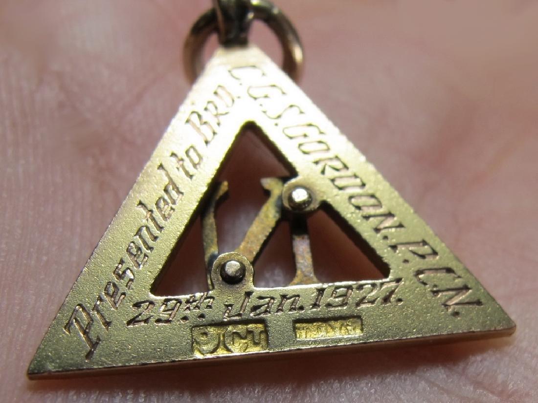 Lot of 4 9K Gold Masonic jewel - 6