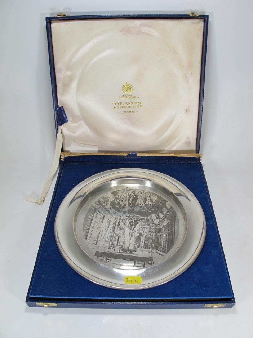 Toye Kenning & Spencer Ltd Masonic pewter plate