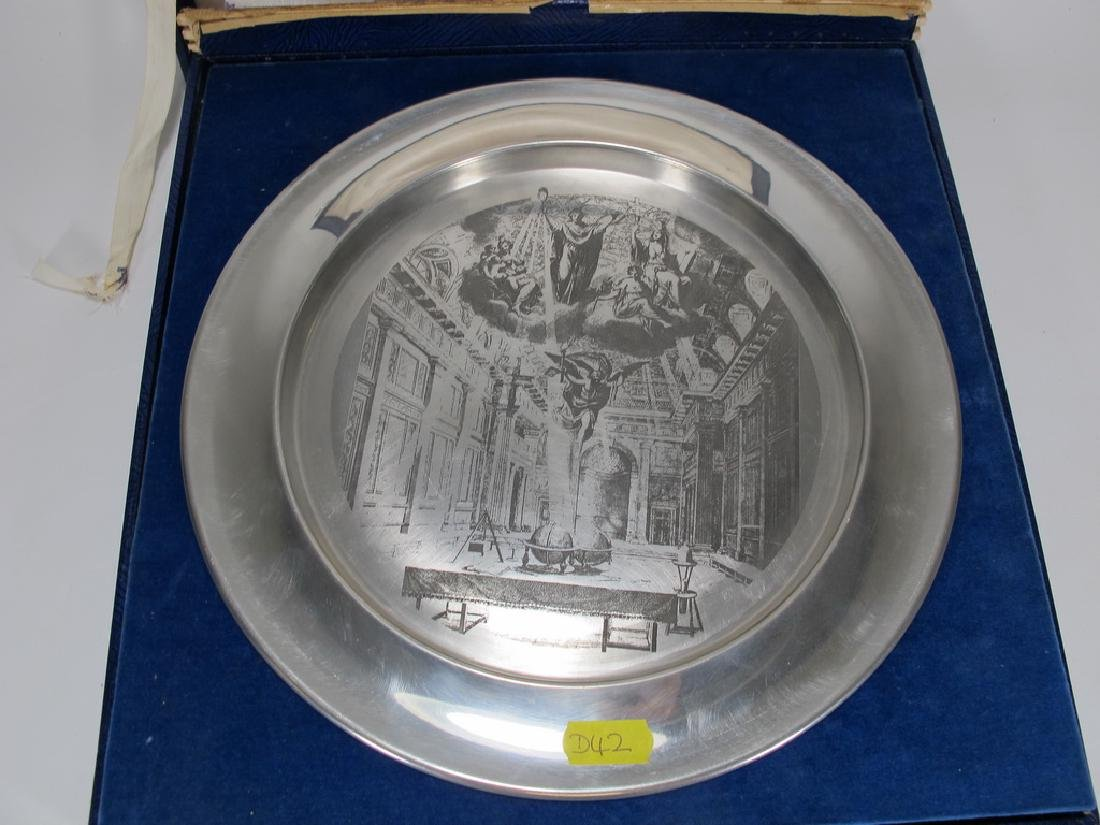 Toye Kenning & Spencer Ltd Masonic pewter plate - 3