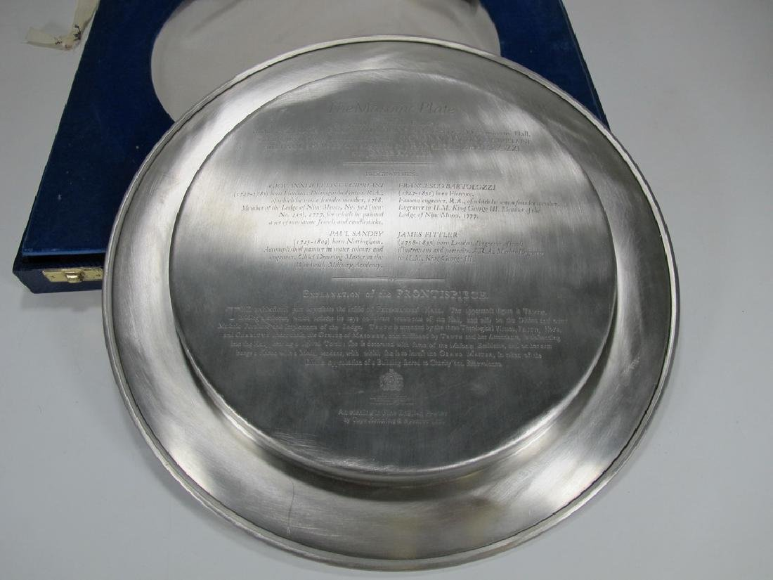 Toye Kenning & Spencer Ltd Masonic pewter plate - 6