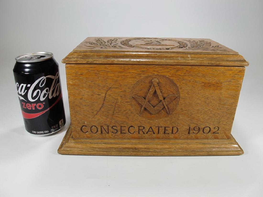 Antique Masonic wooden box