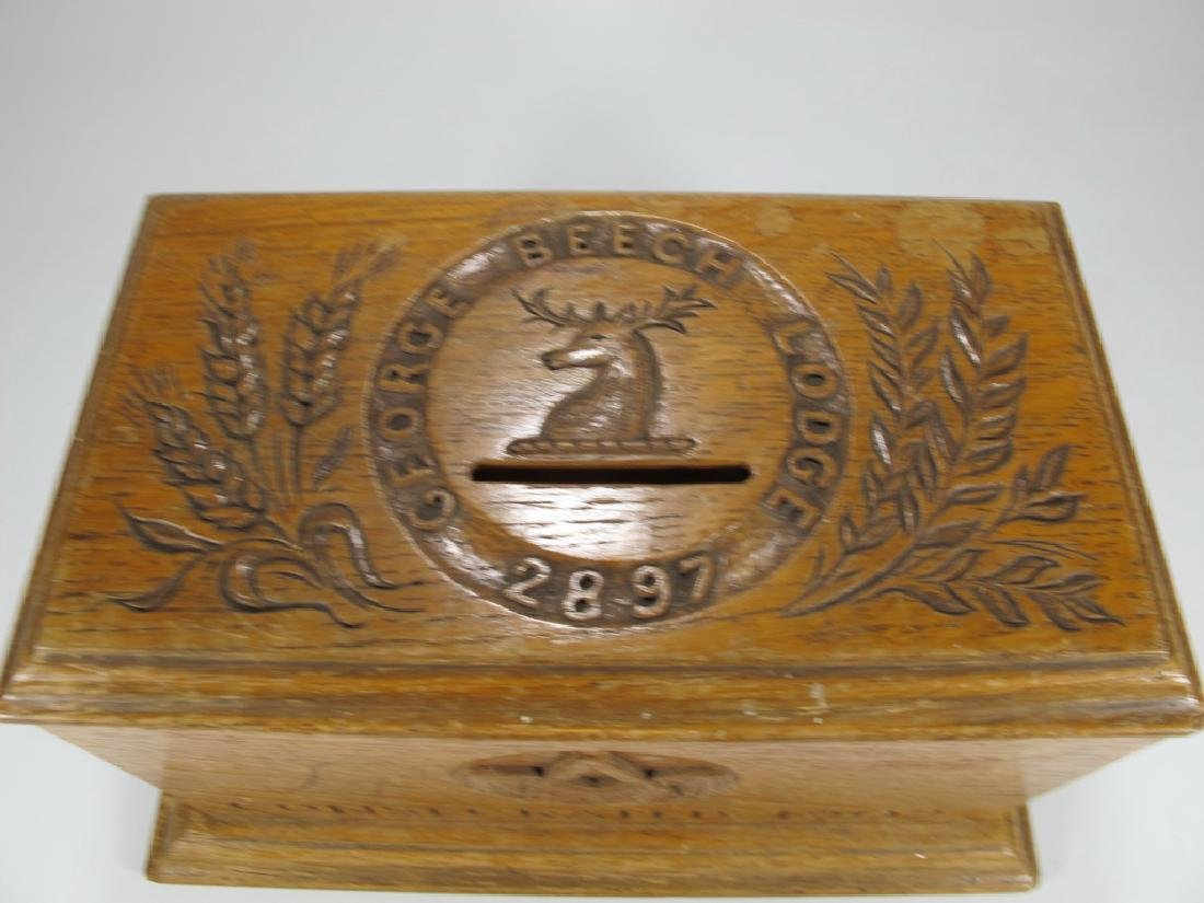 Antique Masonic wooden box - 2