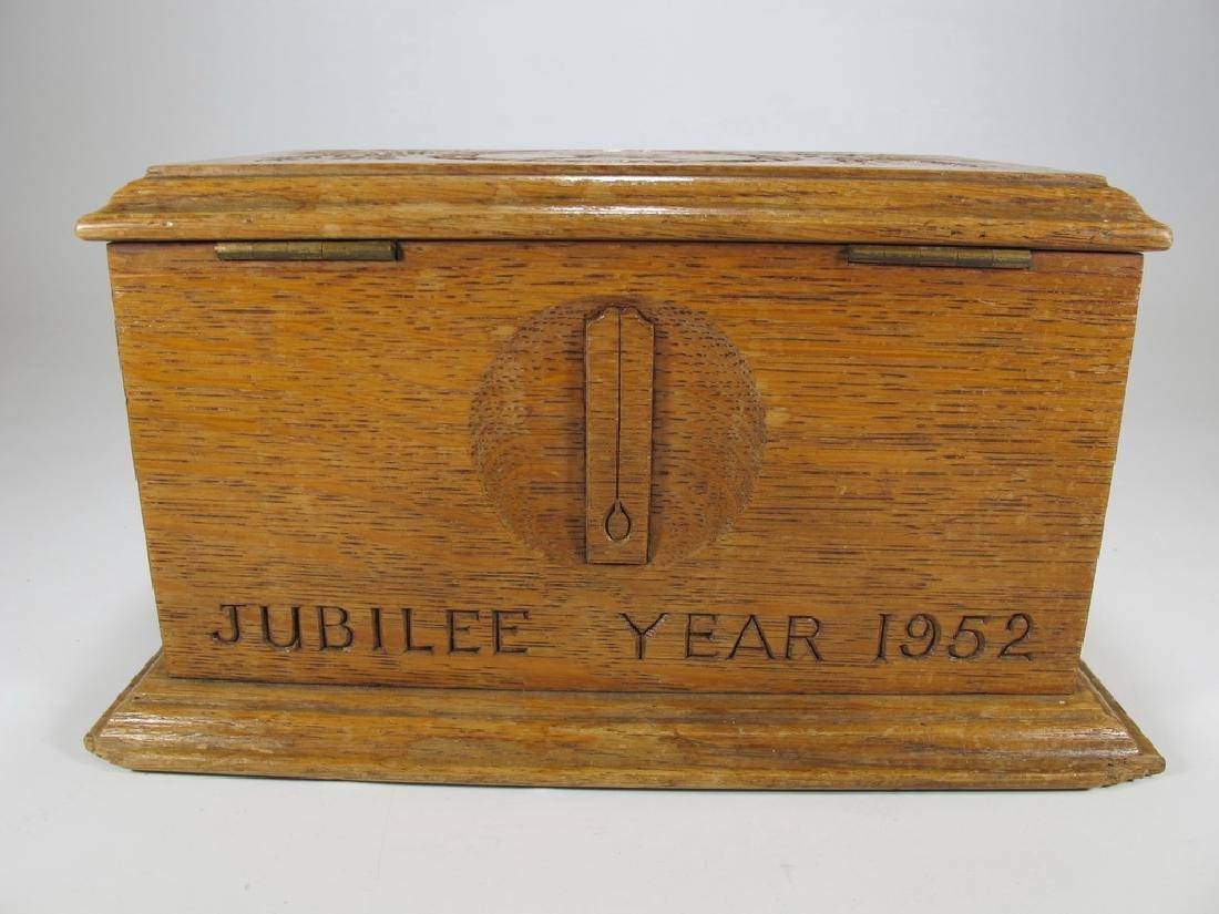 Antique Masonic wooden box - 6