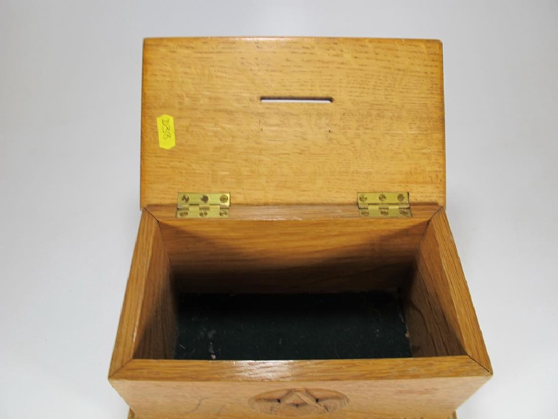 Antique Masonic wooden box - 7