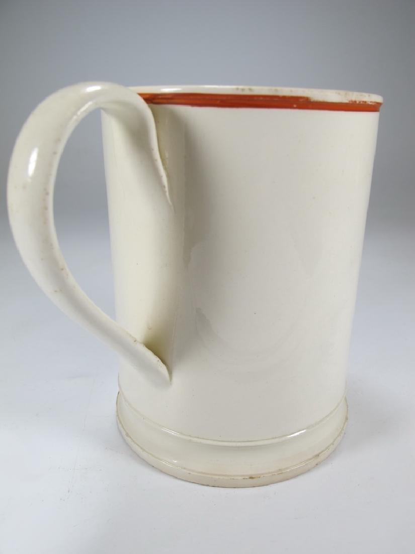 Antique Masonic pottery jug - 4