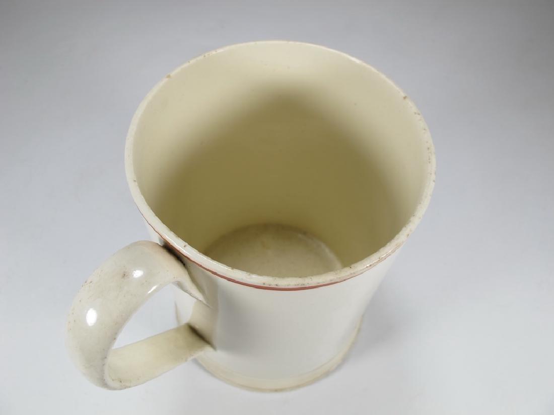 Antique Masonic pottery jug - 5