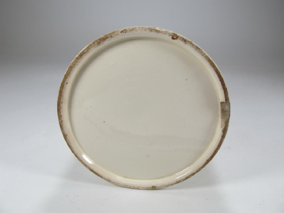 Antique Masonic pottery jug - 6