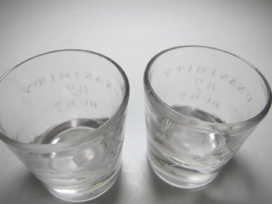 Lot of 4 Masonic glass shots - 5