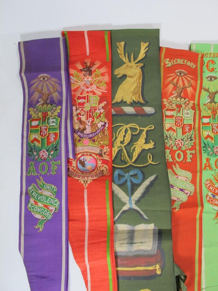 Lot of 15 assorted Masonic Friendly Orders  sashes - 2