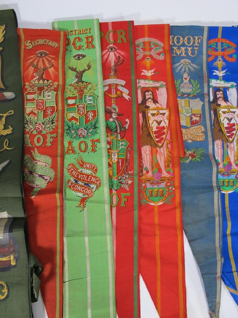 Lot of 15 assorted Masonic Friendly Orders  sashes - 3