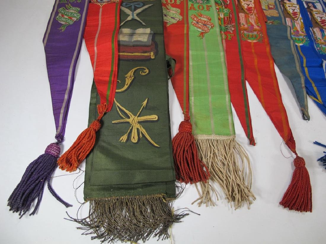 Lot of 15 assorted Masonic Friendly Orders  sashes - 6