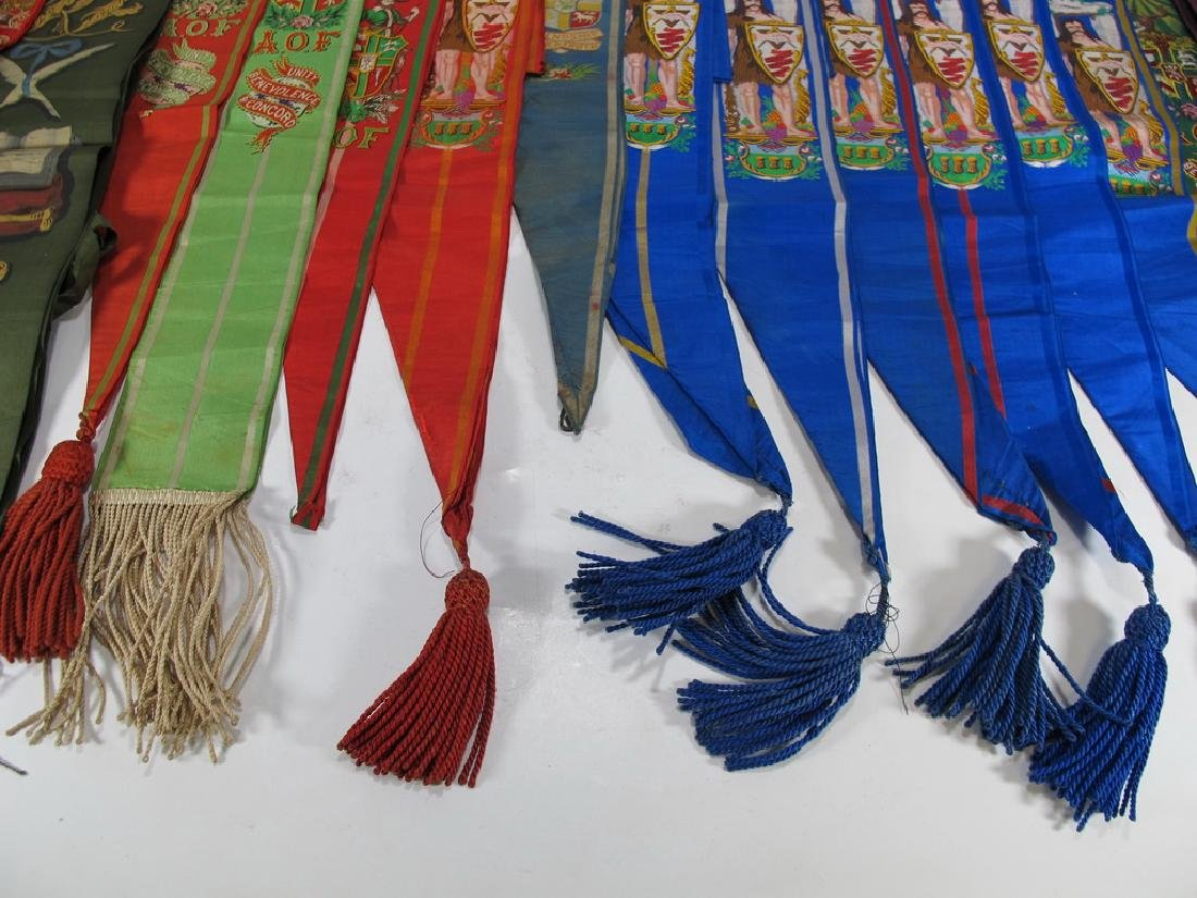 Lot of 15 assorted Masonic Friendly Orders  sashes - 7