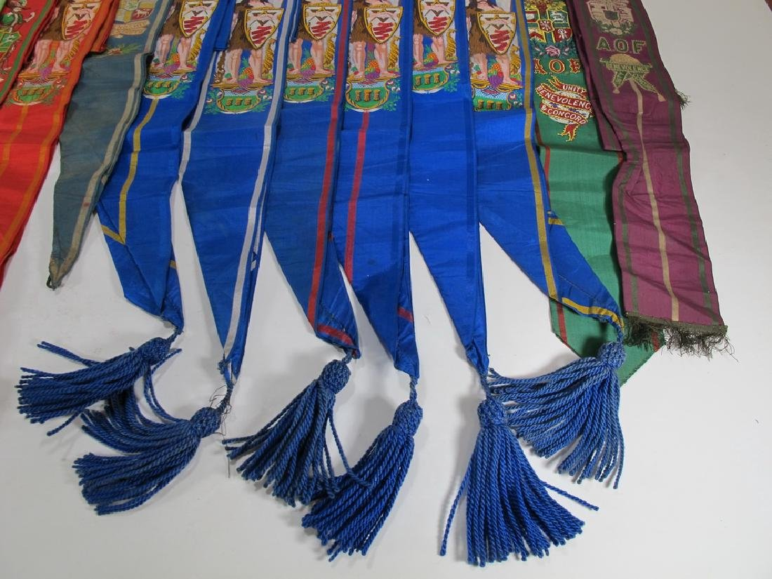 Lot of 15 assorted Masonic Friendly Orders  sashes - 8