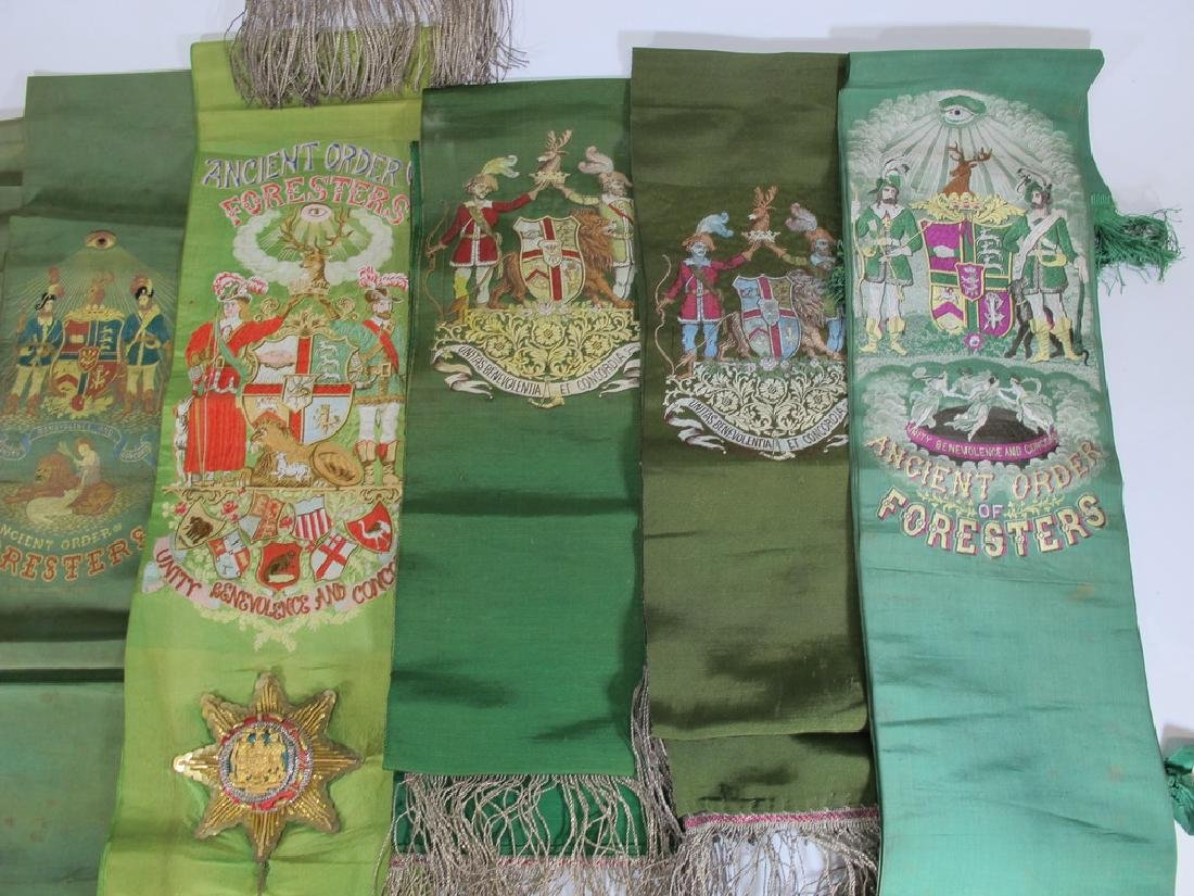 Lot of 12 assorted Masonic Orders sashes - 5