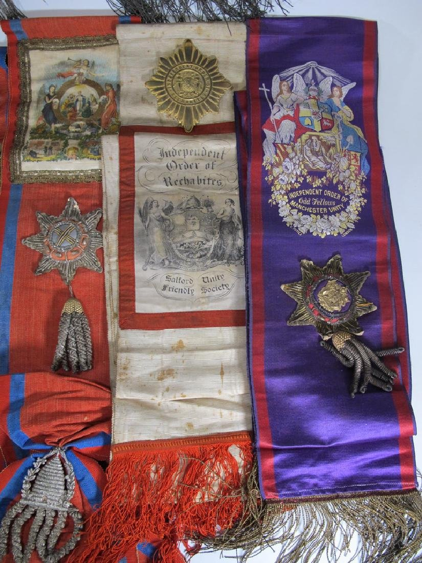 Lot of 12 assorted Masonic Orders sashes - 6