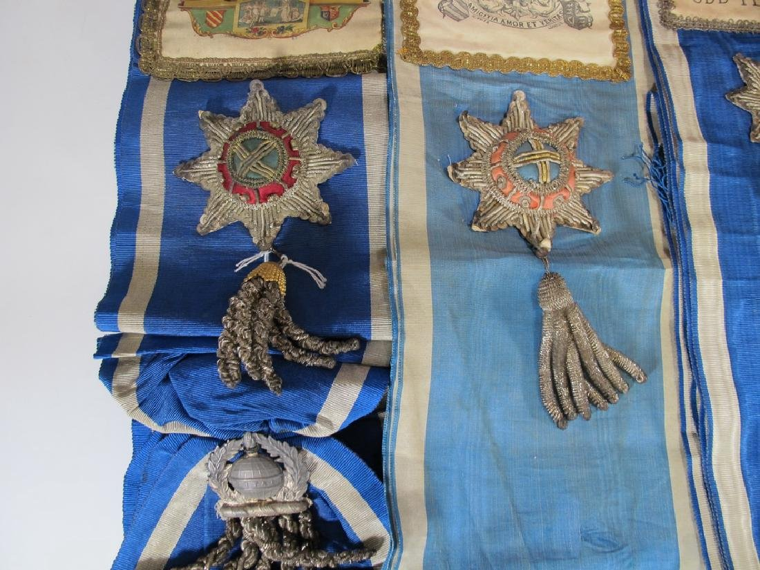 Lot of 12 assorted Masonic Orders sashes - 8