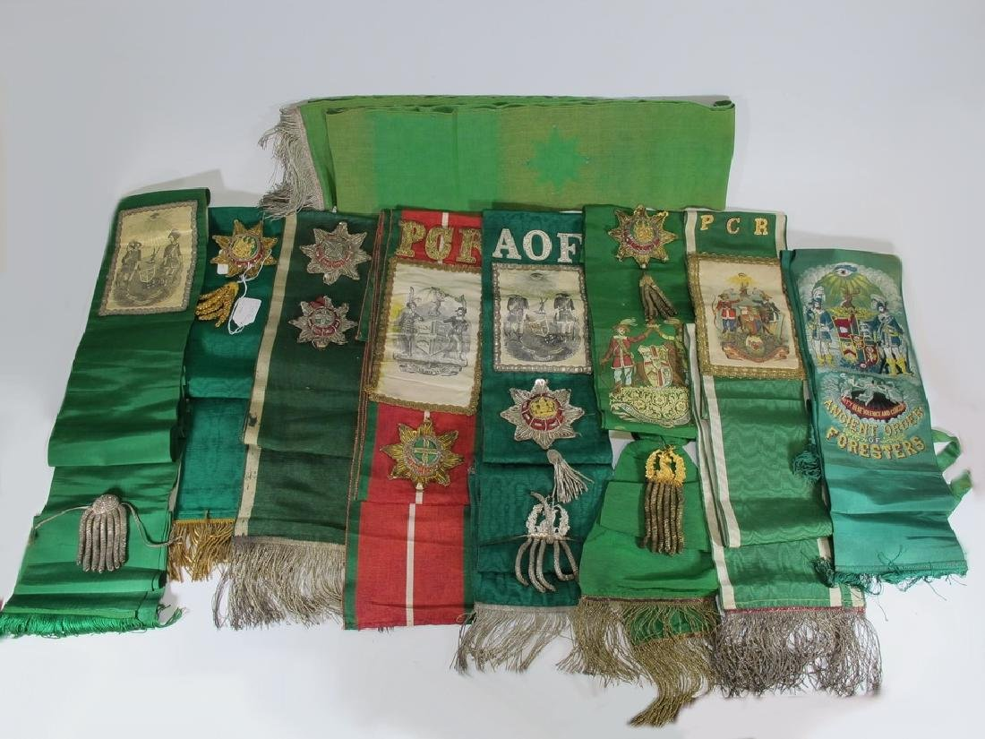 Lot of 9 assorted Masonic Orders sashes