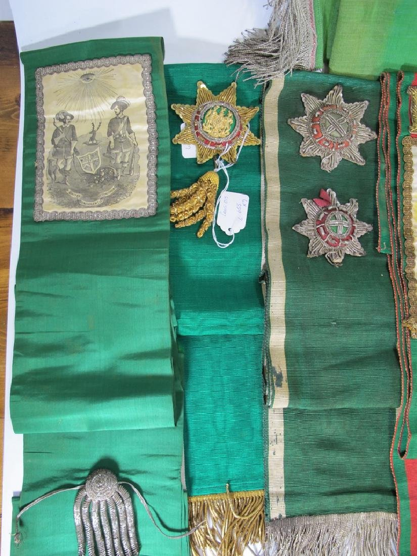 Lot of 9 assorted Masonic Orders sashes - 2