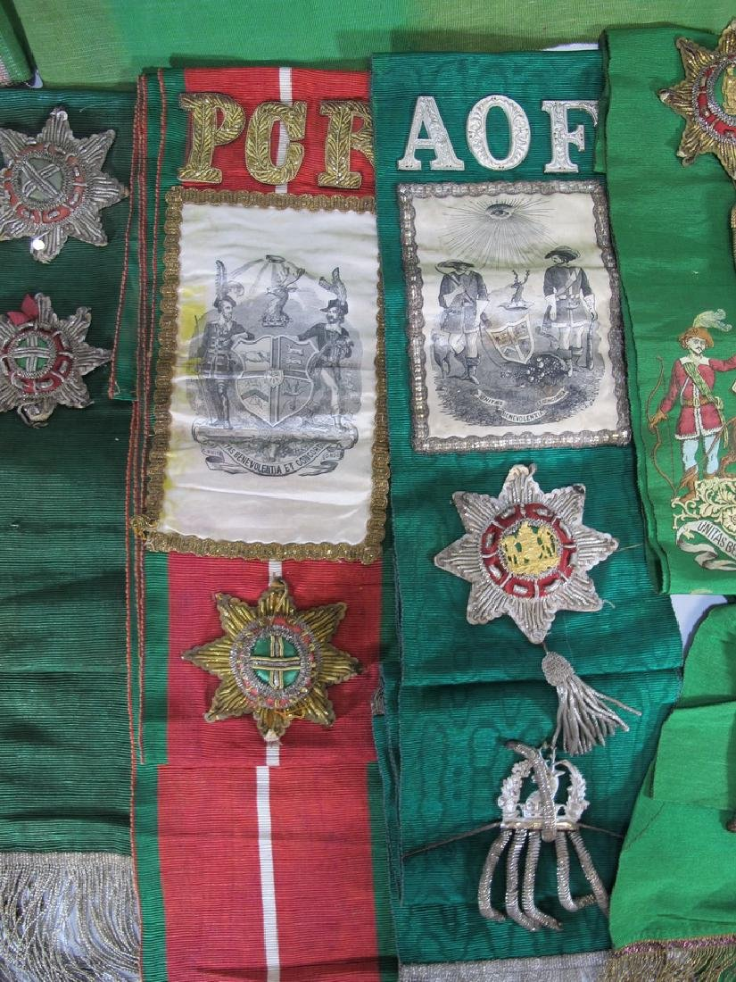 Lot of 9 assorted Masonic Orders sashes - 3